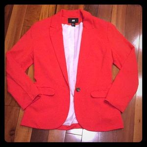H&M Single Button Blazer with Pockets